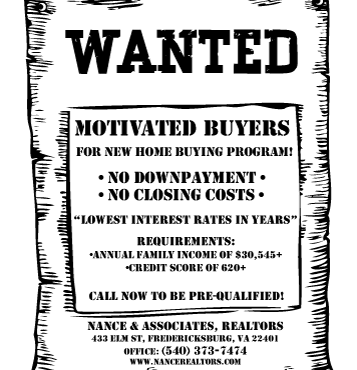 Wanted: Motivated Buyers for first time Home buying Program!