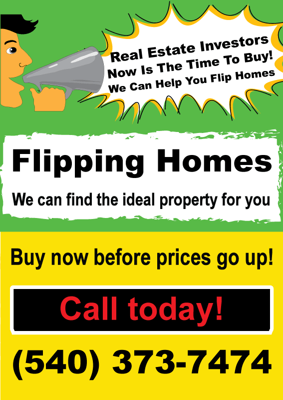 Real Estate Investors – We can help you flip …