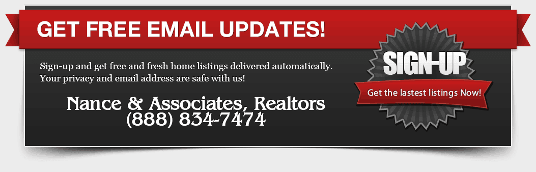 Free Home listing updates by e-mail
